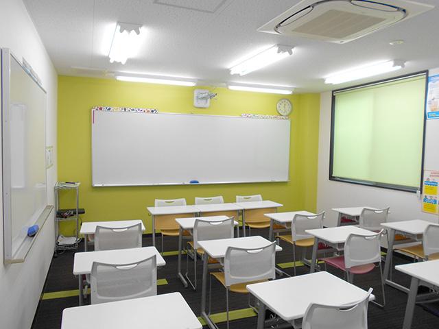 授業で使用する教室です。ここで切磋琢磨し、一緒に頑張りましょう!
